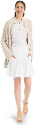 Max Studio linen crepe gauze skirt