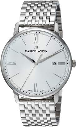 Maurice Lacroix Men's 'Eliros' Swiss Quartz Stainless Steel Casual Watch, Color -Toned (Model: EL1118-SS002-110-2)
