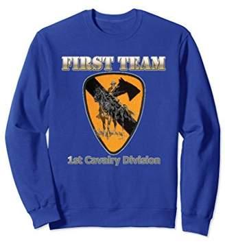 First Team Sweatshirt - for Army Cavalry Veterans