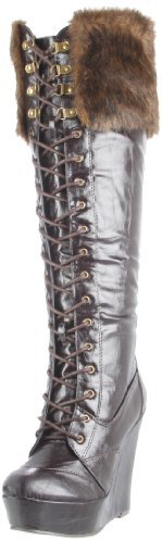 C Label Women's Alley-5 Wedge Boot