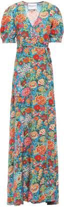 Perseverance Floral-print Woven Maxi Wrap Dress