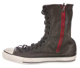 John Varvatos Converse by Leather Tall Sneakers