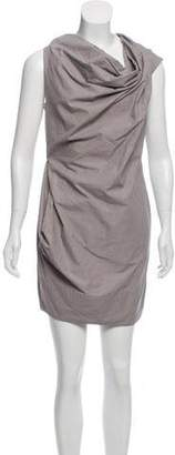 AllSaints Cowl Neck Striped Dress