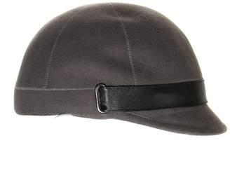 Aqua Women's Jockey Style Hat with Faux Leather Trim