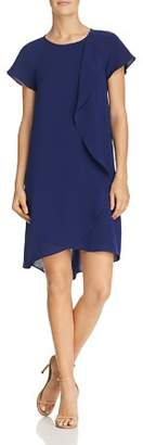 Adrianna Papell Draped Overlay Dress