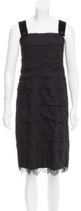 Lanvin Tiered Lace Dress