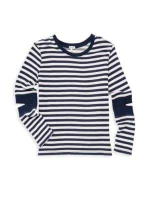 Splendid Girl's Stripe Cut Out Knit Top