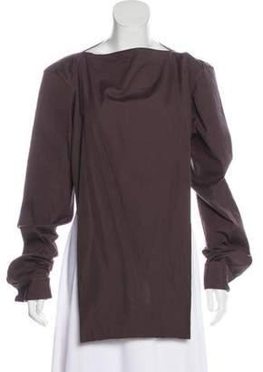 Maison Margiela Cutout-Accented Long Sleeve Top