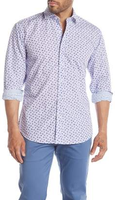 Bugatchi Printed Woven Long Sleeve Regular Fit Shirt