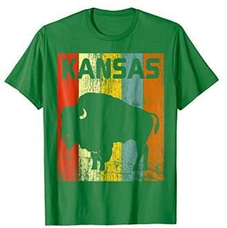 Buffalo David Bitton Vintage Retro Kansas T-Shirt Kansas State KS 70s Tee
