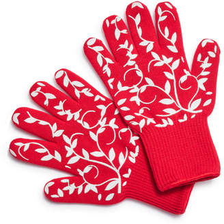 Sur La Table Floral Vine Oven Gloves