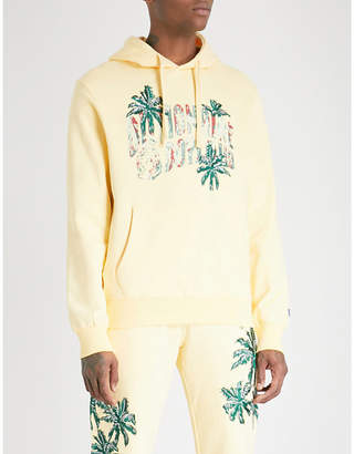 Billionaire Boys Club Palm-embroidered cotton-jersey hoody