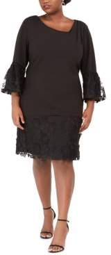 Robbie Bee Plus Size 3D Floral Dress