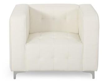Fiske Mercer41 Leather Cube Club Chair Mercer41