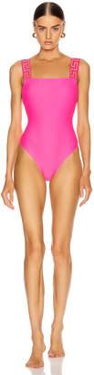 Versace Bright One Piece Swimsuit in Fuchsia | FWRD