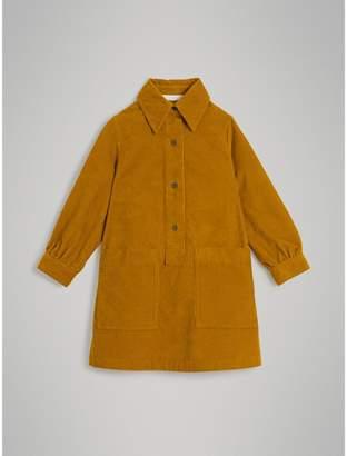 Burberry Corduroy Shirt Dress , Size: 4Y