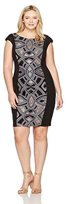 Sangria Women's Plus Size Geo Print Midi Dress