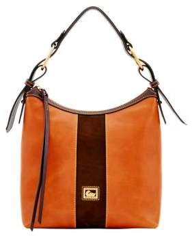 Dooney & Bourke Maya Suede and Leather Hobo Bag