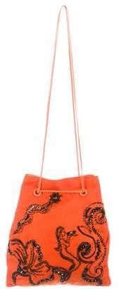 Prada Embellished Drawstring Bag
