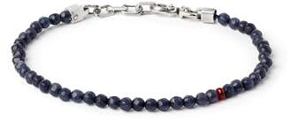 title of work Sapphire & Ruby Bead Bracelet