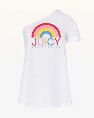 Juicy Couture JXJC Rainbow Graphic One Shoulder Tee