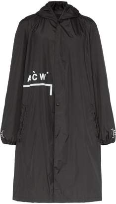 A-Cold-Wall* logo detail hooded storm coat
