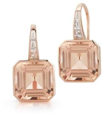 Walters Faith Ottoline 18K Morganite And Diamond Baguette Earrings