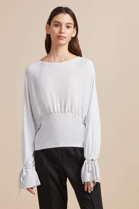 French Connenction Heather Knit Gathered Waist Jumper