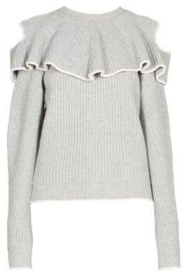 Alexander McQueen Crewneck Ruffle Sweater