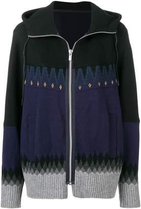Sacai pattern embellished cardigan
