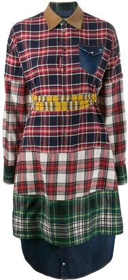 DSQUARED2 patchwork print shirt
