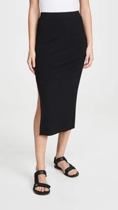 Edition10 Ribbed Skirt with Slit