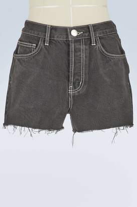Current/Elliott Current Elliott Ultra high-waisted denim shorts