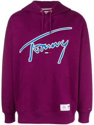 Tommy Jeans embroidered logo hoodie