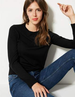 Marks and Spencer Pure Merino Wool Round Neck Jumper
