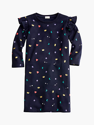 J.Crew crewcuts by Girls' Brooklyn Ruffle Sleeve Dress, Blue