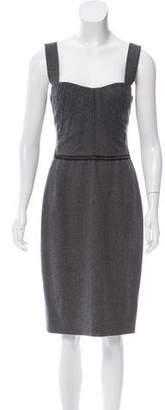 Dolce & Gabbana Wool Midi Dress