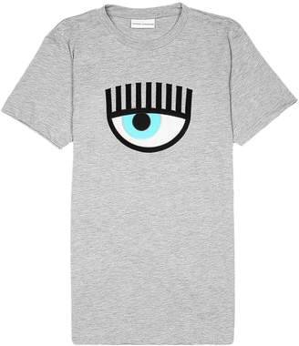 Chiara Ferragni T-shirt Short-sleeved Eyes Flirting T-shirt With Maxi Print