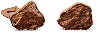 Jorge Adeler Natural Arizona Copper 18k Gold Cufflinks