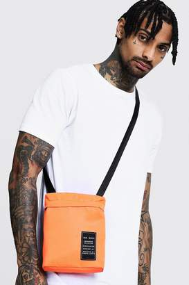 boohoo Nylon Cross Body Bag with MAN Patch