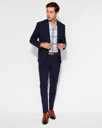 Express Slim Navy Wool-Blend Stretch Tough Suit Pant
