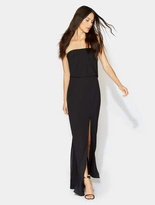 Halston Flowy Drape Back Gown