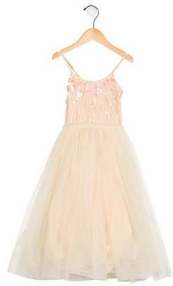 Tutu De Monde Girls' Beaded Tulle Dress