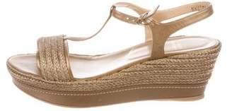 Stuart Weitzman Flatty Metallic Sandals