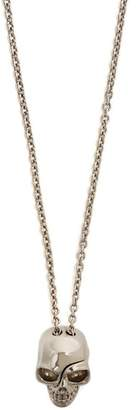 Alexander McQueen Divided Skull Necklace - Mens - Silver