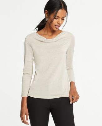 Ann Taylor Petite Shimmer Cowl Neck Top