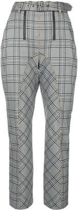 Self-Portrait plaid tailored trousers