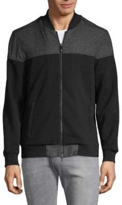 Vince Camuto Mesh Pique Bomber Jacket