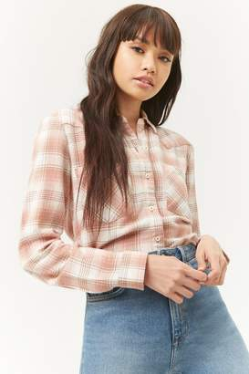 Forever 21 Western-Inspired Flannel Plaid Shirt