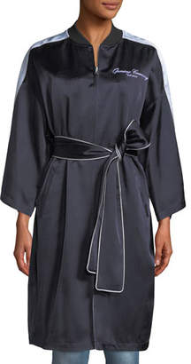 Opening Ceremony Reversible Embroidered Zip-Front Kimono Jacket